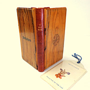 Olive Wood & Leather Covered Roman Missal.  1954.  Bethlehem.  Wonderful ++.