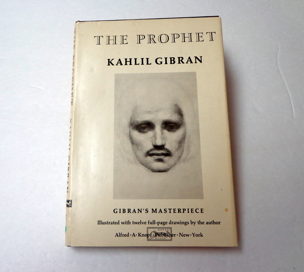 Kahlil Gibran THE PROPHET.  Illus. by Author.  Knopf Ed.  1971.  Beautiful Ed.  As New Condition.