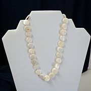 SALE Mother-of-Pearl Necklace.  Dainty. Elegant.  Mint Condition.
