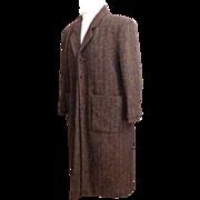 Genuine Harris Tweed Custom Made Ladies Coat.  Superb Quality & Fabric.  Mint Condition.