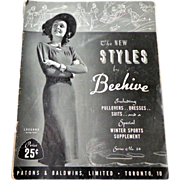 Knitting Styles by Beehive.  1940s.  Good Condition.