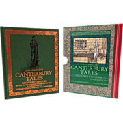 Complete Canterbury Tales.  Chaucer.  Burne-Jones & William Morris Illustrations.  Beautiful E