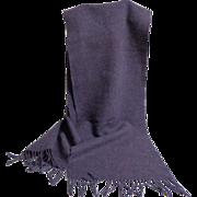 Ralph Lauren 100% Lambswool Scarf.  Heather Purple.  As New Condition.