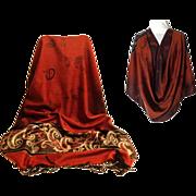 Gold and Rust Pashmina.  55% Pashmina & 45% Silk.  Super Soft.  Exquisite ++.  As New Conditio