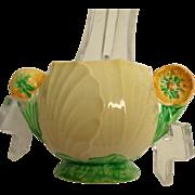 Carlton Ware Buttercup Australian Design Pattern Handled Condiment Pot / Sugar Bowl.  Gorgeous