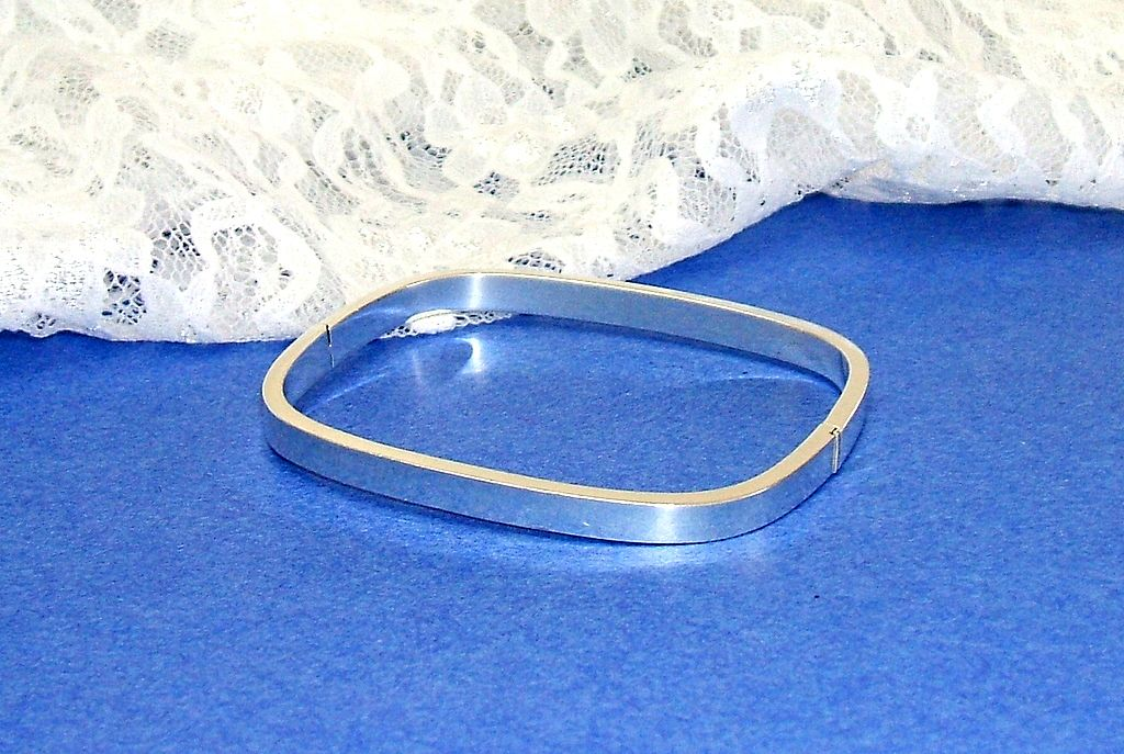 Sterling Silver Bracelet.  Rounded Rectangle.  Elegant! Engrave it for Yourself or A Special Someone..