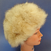 Fox Hat.  Blonde.  Toque Style.  Mint condition.