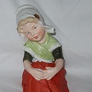 Large Heubach Bisque Piano Baby Figurine Dutch Girl