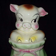 American Bisque Pig In A Poke Cookie Jar Rare Collectible Free Ship
