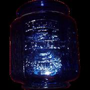 Cookie Jar Planters Peanuts Cobalt Blue Huge Ca 1970