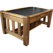 Mission Oak Table with Drawer Nice For Coffee Table