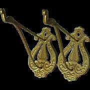 2 Vintage Decorative Metal Hooks