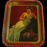 1936 Vintage Coca Cola Serving Tray Hostess Girl