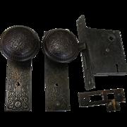 SOLD 1890 Russell & Erwin Villa Doorknob Lock Set