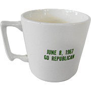 1960's Mid Century Republican Political Mug