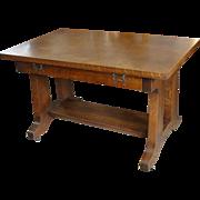 Mission Arts & Crafts Quarter Sawn Oak Library Table
