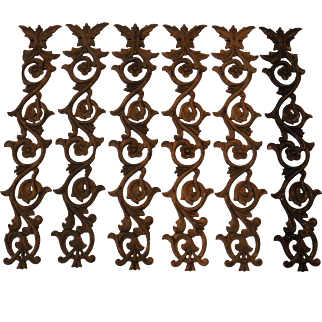 Antique Hand Carved Oak Pieces Floral and Foliate Designs