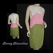 1960's Color Block Shift Dress