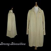 1950's Cream Long Swing Coat