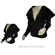 Vintage Lilli Ann French Woolen Black Jacket with Jet black beads