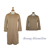 1960's Vintage Tan Shift Dress ~ Charles Cooper for Cooper Couture