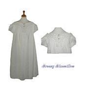 c.1890's Antique Victorian Ladies Night Gown ~ White Work Lace