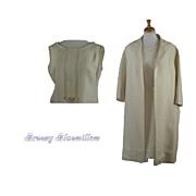 1960's Vintage Cream Coat and Shift Dress   OOAK   2 Piece