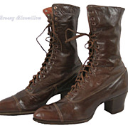 c.1910 Victorian Edwardian Steampunk Lace-up Boots