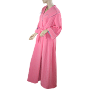 """1950's NOS Quilted Pink """"New Look"""" Robe Housecoat"""
