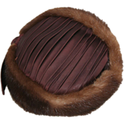 Mink Pillbox Vintage Hat 1960's By Mollie Bee Designs