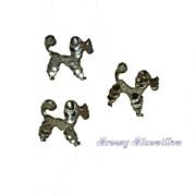 Vintage set-of-3 Poodle scatter pins
