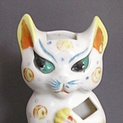 Vintage Art Deco Style Cat Toothbrush Holder