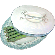 SALE Staffordshire Covered Asparagus Boote' Platter John Maddock & Sons circa 1888