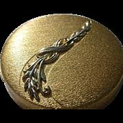 Vintage DuBarry Textured Goldtone Compact.