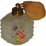Vintage  Frosted  Automizer Perfume Bottle