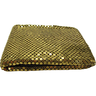 Vintage Gold-tone mesh Bi-Fold Wallet by Whiting and Davis