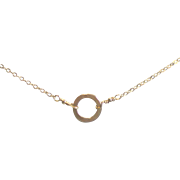 11mm Circle Necklace with 14k Gold Fill, You Choose Length