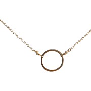 Circle Necklace with Freshwater Cultured Pearls, You Choose Length