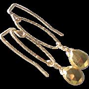 Golden Pyrite Gem Earrings