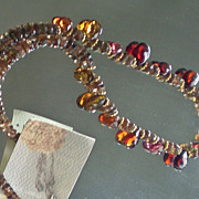SOLD Sapphire and Andalusite Gem Necklace