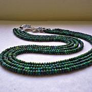SOLD Chrysocolla Gemstone Necklace