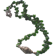 Rare Siberian Chrome Diopside 25 Inch Necklace
