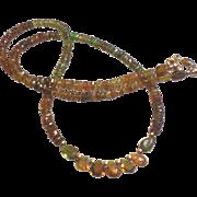 SOLD Golden Tourmaline Gem Necklace with 14k Gold Fill