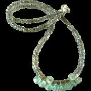 Labradorite and Aquamarine Gemstone Necklace