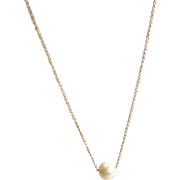 Freshwater Cultured Pearl Necklace with 14k Gold Fill or Sterling Silver