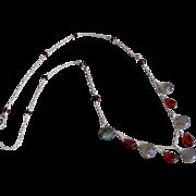 Mozambique Garnet and Labradorite Jewel Necklace
