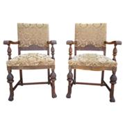 SOLD Antique Furniture Pair of French Antique Chairs Armchairs