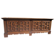 SOLD Spanish Antique Carved Sideboard Antique Furniture