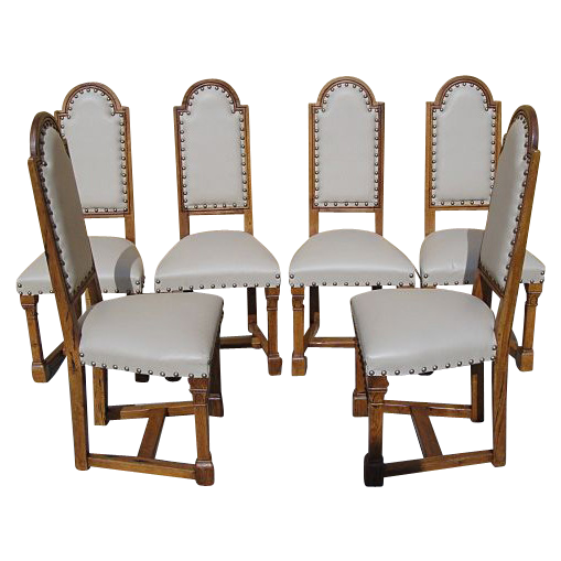 Spanish Antique Leather Dining Chairs Antique Furniture