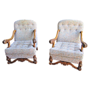 SOLD Pair of Spanish Antique Chairs Armchairs Antique Furniture